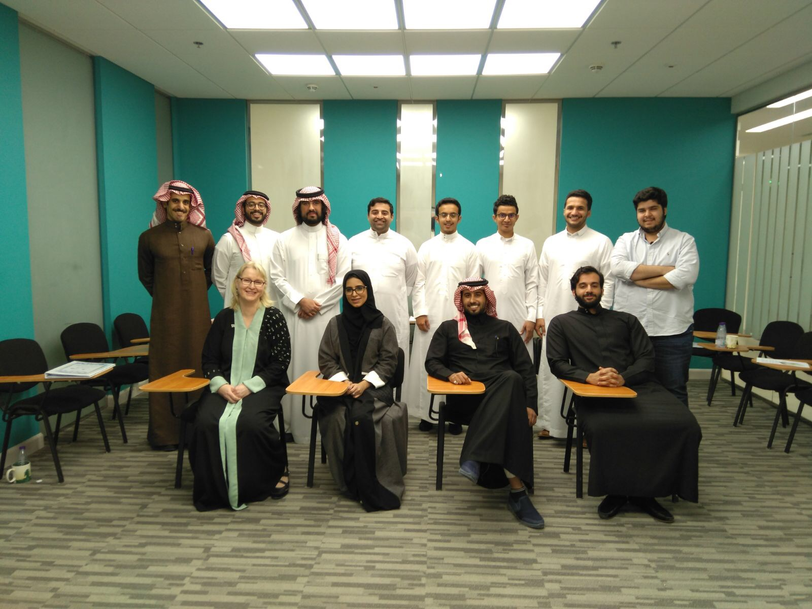 Hanna ja opiskelijat tammikuun työpajassa Saudi-Arabiassa